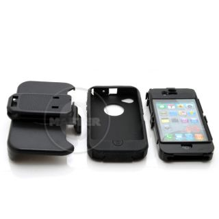 Case Belt Clip on Swivel Holster iPhone 4 G 4S iOS 5 Black