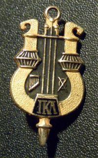 1940s Iota Kappa Lambda Fraternity Lapel Pin Gold Filled Enameled