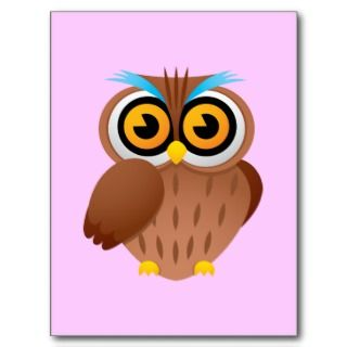 Owl Owls Birds Cartoon Caricature Bumper Stickers