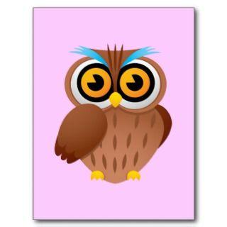 Owl Owls Birds Cartoon Caricature Bumper Stickers