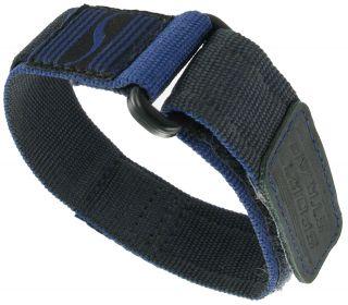 16 20mm Timex Ironman Wrap Nylon Velcro Watch Band Strap Navy Blue