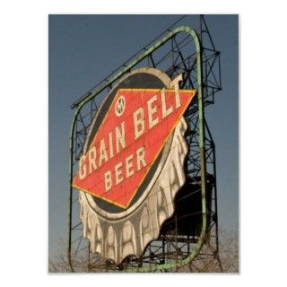 vintage Grain Belt Beer sign still stands near the Old Grain Belt