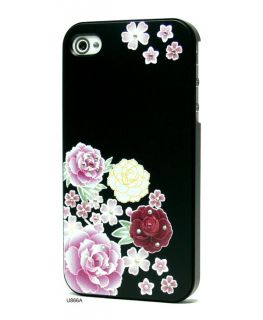 3D Relief Bling Rhinestones Hard Cover Case for iPhone 4 U866A