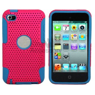 / Light Blue Combo Silicone Case cover for iPod Touch 4th Generation