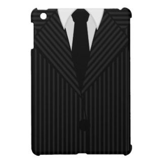 Pinstripe Mens Suit and Tie iPad Mini Case Covers