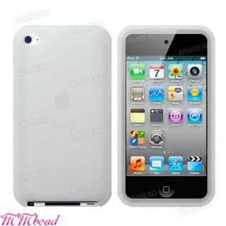 New White Color Silicone Case Cover Skin for Apple iPod Touch 4 4th
