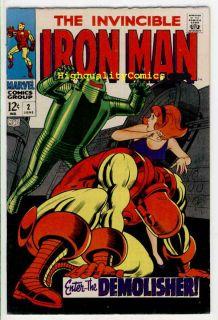 Iron Man 2 VFN Tony Stark Robot Johnny Craig 1968 Demolisher