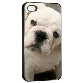 English Bulldog Apple iPhone 4 4S Seamless Case Cover Black for Gifts