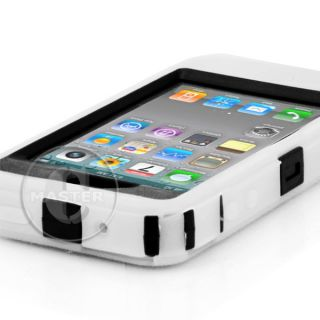 Hard Muscle Box Case Belt Clip on Holster for iPhone 4 G 4S Wht