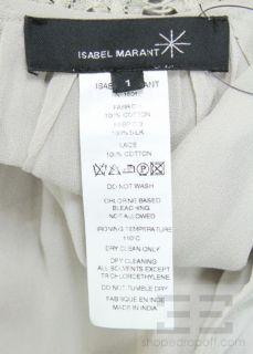Isabel Marant Grey Silk Cotton Lace Sleeveless Dress Size 1