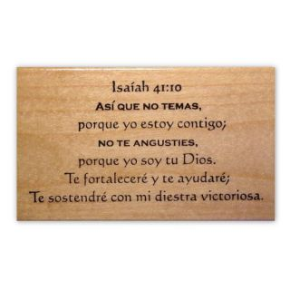Isaiah 41 10 in Spanish Bible Verse Rubber Stamp 11