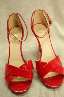 Kate Spade New York Isabel Red Patent Leather Sandal Size 8 5 $328
