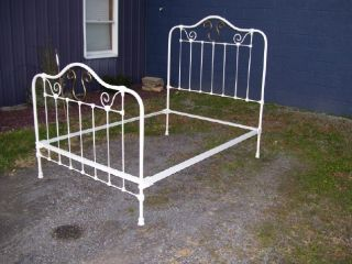Antique Victorian Brass Iron Bed Make OFFER Everything Must Go