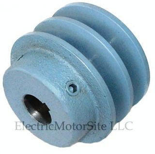 75 in OD 3 4 Bore 2 Groove Cast Iron A Belt Pulley 2AK27X3 4