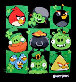 Angry Birds Graphic Tee St Patricks Day Themed T Shirt Irish