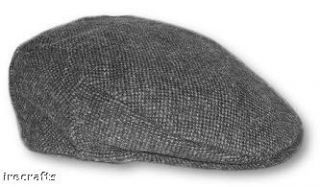 Traditional Irish Grey Tweed Cap Hat New Ireland Sz