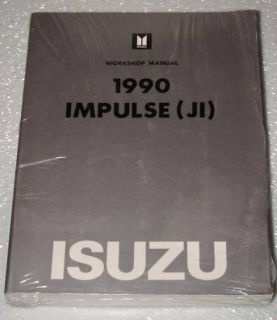 1990 Isuzu Impulse Factory Service Manual XS Coupe New Dealer Shop