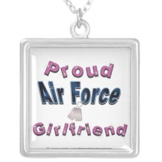 Proud Air Force Girlfriend Necklace