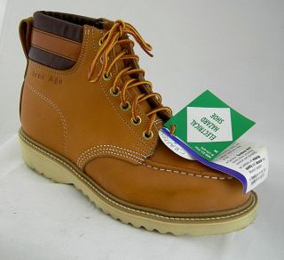 Iron Age Mens Steel Toe EH Boots Tan 496 New 9 M