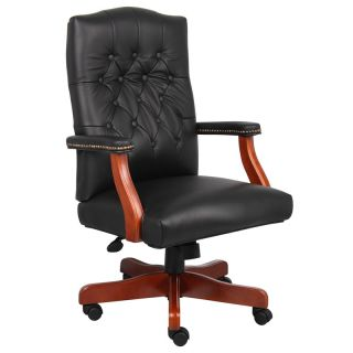 Italian Black Leather Executive Conference Office Chair