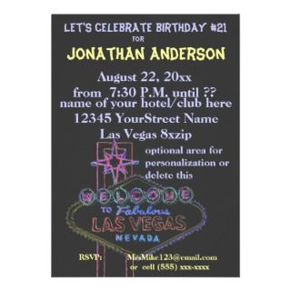 Viva Las Vegas Casino Theme Weddings Personalized Invite