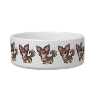 Cartoon Chihuahua (smooth coat) Cat Food Bowls