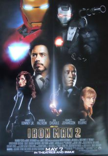 IRON MAN IRONMAN 2 ROBERT DOWNEY JR. SIGNED POSTER Autograph original