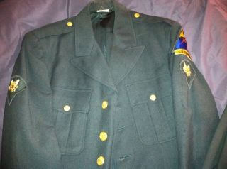 WORLD WAR II Uniform Jacket & Pants 1st Armored Division Old Ironside