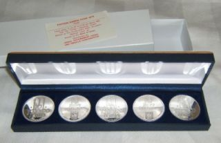 Israel 1972 Pidyon Haben Set Box 5 Silver Coins 26g PR