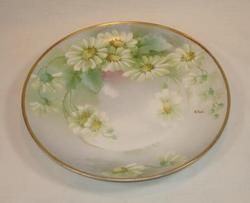 Ginori Italy Porcelain Hand Painted Plate Daisies Artist Signed