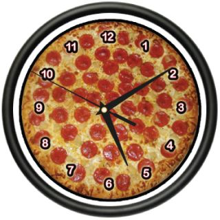 Pizza Wall Clock Place Kitchen Decor Italian Food Art