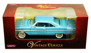 1964 Ford Galaxie Hard Top 1 32 Scale Diecast Model Blue Arko