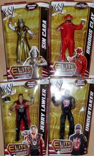 JERRY LAWLER BRODUS CLAY UNDERTAKER SIN CARA WWE Mattel Elite 18 Toy