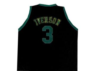 Allen Iverson Bethel High School Jersey Black New Any Size
