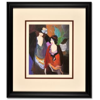 Itzhak Tarkay Ladies Standing Wood Frame with Double Matte