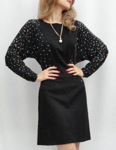 BN Issa Black Silk Sleeved Cocktail Dress UK14 US10 So Elegant