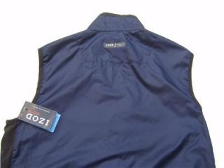 Mens IZOD Golf Wind Shirt Zip Jackt Function Vest L