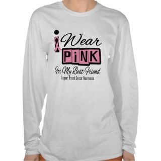 Wear Pink Breast Cancer Best Friend (Retro) Shirt