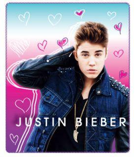 Justin Bieber Heart Frenzy Fleece Throw Blanket