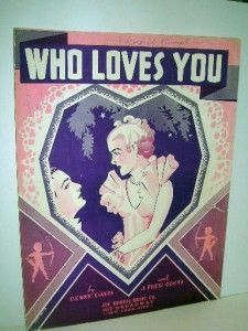 Who Loves You Sheet Music Pretty Girl Cupids Cover 1936