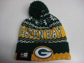 Green Bay Packers New Era Hat Beanie Weather Advisory Knit Stocking