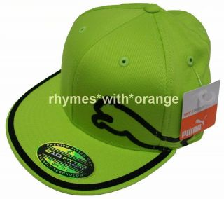 2012 Puma Monoline Fitted 210 Golf Hat Lime Green