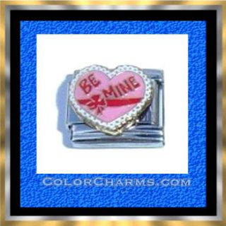 Be Mine Valentine Candy Box Heart Charm Italian Charms