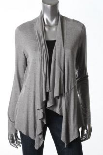 Fever New Gray Seamed Long Sleeves Open Front Cardigan Sweater s BHFO