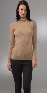 Vince Ribbed Cashmere Turtleneck Sweater