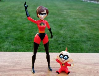 Mrs Incredible Elastigirl Helen Jack Jack Figures Hard to Find