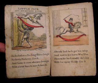 Little Jack Rocking Horse C 1820 Hand Color Chapbook