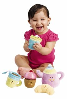 Earlyears Plush Baby Tea Party Set with Sounds New