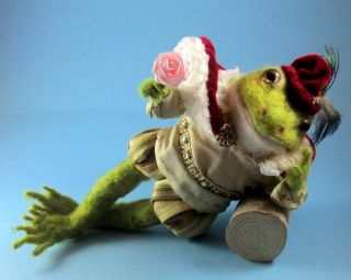 Fairy Tale Frog Prince on Log Henry by Artist Robin J Andreae