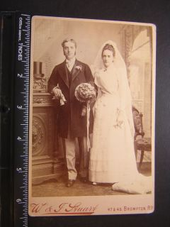 Photo 0739 Photographer W & J Stuart London SW young newlyweds top hat